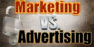 Marketing VS Advertising Image