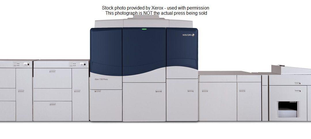 A Xerox iGen 150 1